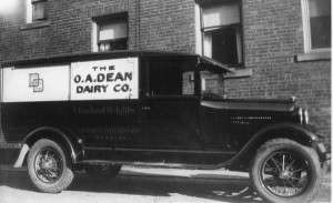 Milk Truck, Circa 1959: Automobiles had completely replaced horse-drawn milk wagons by the time this photograph was taken in the late 1950s.